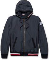 Moncler Gamme Bleu Reversible Cotton-jersey And Seersucker Jacket - Storm blue