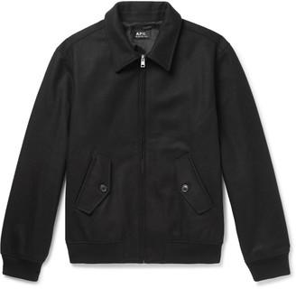 A.P.C. Gaspard Wool-blend Bomber Jacket - Black