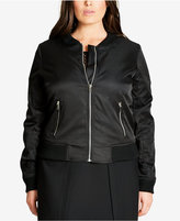 City Chic Trendy Plus Size Bomber Jacket