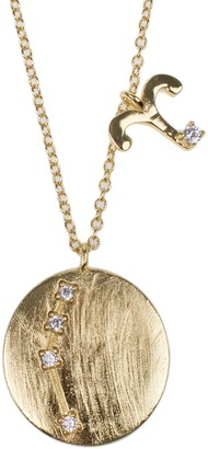 Cz By Kenneth Jay Lane 14K Yellow Gold Plated CZ Zodiac Pendant Necklace - Multiple Options