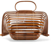 Cult Gaia Lilleth Small Collapsible Bamboo Tote - Brown
