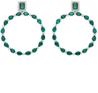 Carla Amorim Esperanca Emerald and Diamond Earrings