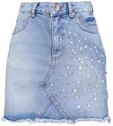 Miss Selfridge PEARL Mini skirt mid denim