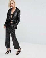 Religion Holidays Tuxedo Pants In Sequin
