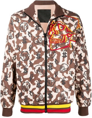 Philipp Plein Camouflage Print Sports Jacket