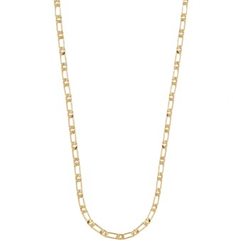 Wanderlust + Co Figaro Chain Gold Necklace
