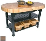 "John Boos Harvest Table Kitchen Island (Useful Gray Stain) (36""H x 60""W x 30""D)"