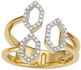 Sterling Silver 1/5 Carat T.W. Diamond Hexagon Ring