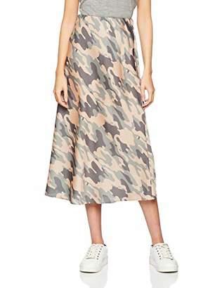 New Look Women's Camo Bias Cut 6183233 Midi Skirt,(Manufacturer Size: 40)