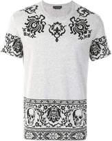 Alexander McQueen skull border print T-shirt