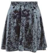 Topshop Velvet flippy skirt