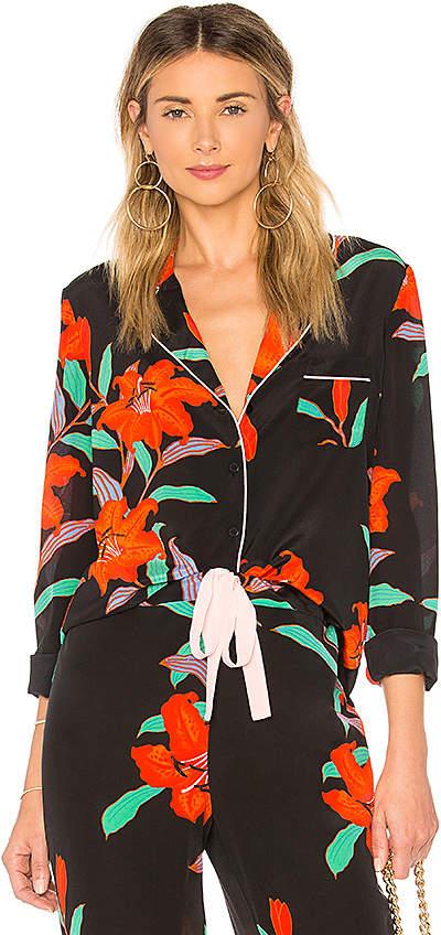 Diane von Furstenberg Pajama Top
