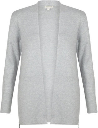 Under Armour Zip Side Knit Cardigan with LENZING ECOVERO Grey