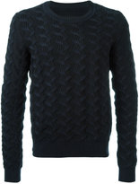 Maison Margiela jagged knit jumper - men - Cotton - M