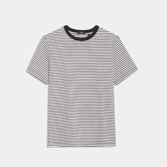 Theory Organic Cotton Jersey Striped Tee