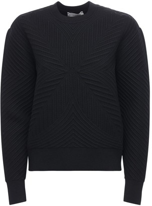 Alexander McQueen Wool Blend Cable Knit Crewneck Sweater