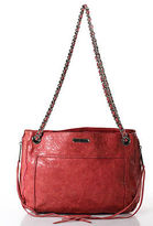 Rebecca Minkoff Pink Leather Double Chain Strap MAB Morning After Bag