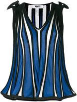 MSGM striped tank top - women - Cotton/Viscose - M