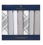 Osborne Pack Of Seven Grey Handkerchiefs