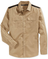 Sean John Men's Double Pocket Long-Sleeve Twill Shirt