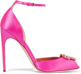 Brian Atwood Oriana crystal-embellished satin sandals