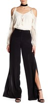 Haute Hippie Solid Side Slit Silk Blend Pant
