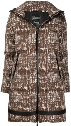 Herno Abstract-Print Padded Jacket