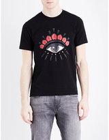Kenzo Eyes Motif Cotton-jersey T-shirt