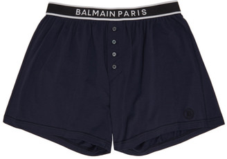 Balmain Navy Cotton Boxers
