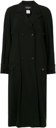 Chanel Pre Owned 1997 Belted Trench Coat