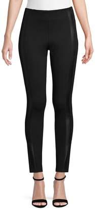 Point Zero Faux Leather Side Stripe Leggings