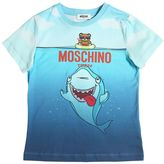 Moschino Shark Printed Cotton Jersey T-Shirt