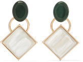Marni Gold-tone Horn Earrings - Cream