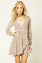 Forever 21 FOREVER 21+ Surplice-Front Mini Dress