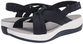 Clarks Arla Belle (Navy Textile) Women's Shoes