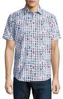 Robert Graham Geo-Print Short-Sleeve Woven Shirt, Multi