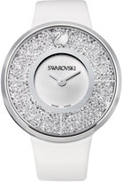 Swarovski Watch, Women's Swiss Crystalline White Calfskin Leather Strap 40mm 1135989