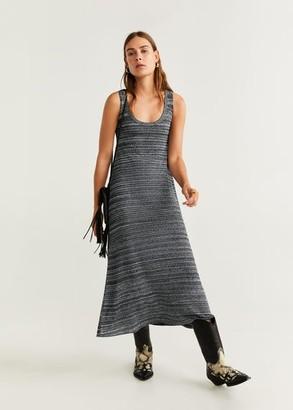 MANGO Flecked shift dress