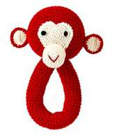 Anne Claire Red Monkey Rattle