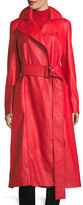 Derek Lam Belted Leather Trench Coat