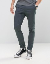 Asos Super Skinny Chinos In Deep Teal
