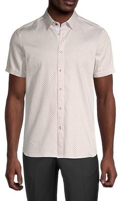 Ted Baker Geometric-Print Shirt