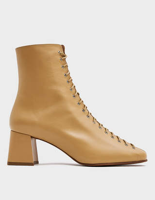 BY FAR Becca Ankle Boot in Cream
