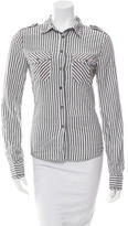 McQ by Alexander McQueen Pinstripe Button-Up Top