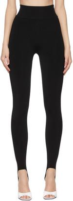 Victoria Beckham Black Rib Knit Leggings