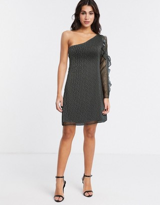 Stevie May Speckle one shoulder mini dress