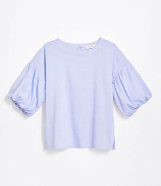 LOFT Petite Puff Sleeve Blouse