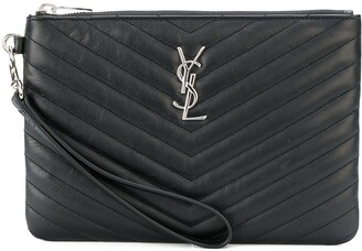 Saint Laurent Monogram wristlet pouch