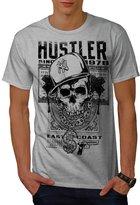 Hustler Skull Hip-Hop Men XXXL T-shirt | Wellcoda
