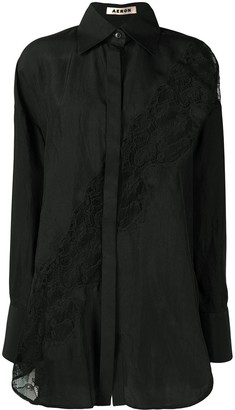 Áeron Sheer Lace Panel Shirt